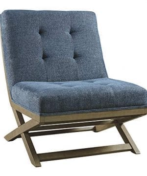Signature Design By Ashley Sidewinder Accent Chair Farmhouse Style Blue 0 300x360