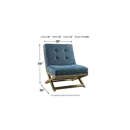 Signature Design By Ashley Sidewinder Accent Chair Farmhouse Style Blue 0 4