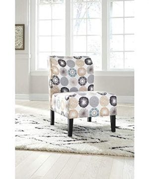 Signature Design By Ashley Triptis Accent Chair Casual TanGray Geometric Circles 0 0 300x360