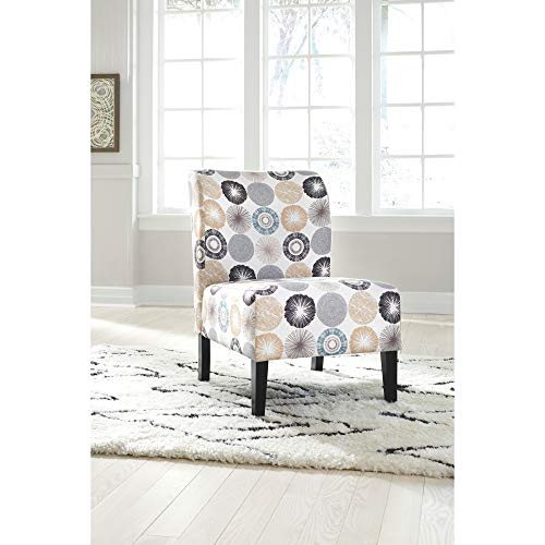 Signature Design By Ashley Triptis Accent Chair Casual TanGray Geometric Circles 0 0