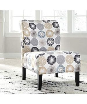 Signature Design By Ashley Triptis Accent Chair Casual TanGray Geometric Circles 0 1 300x360