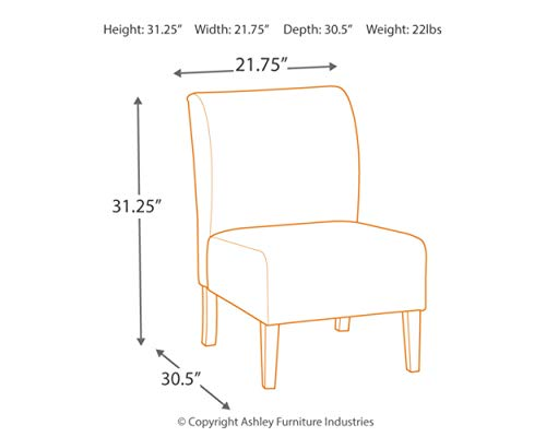 Signature Design By Ashley Triptis Accent Chair Casual TanGray Geometric Circles 0 2