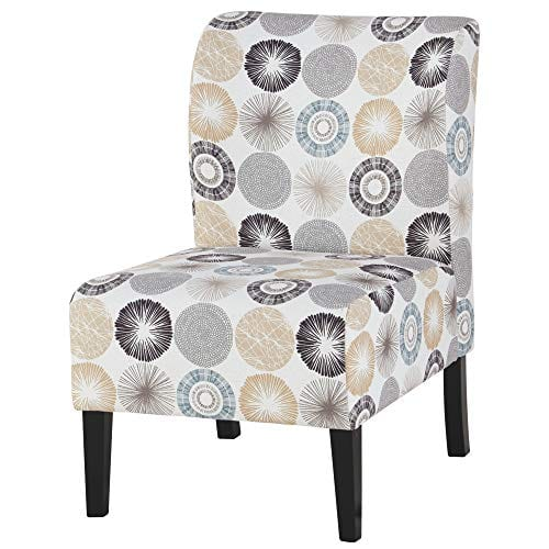Signature Design By Ashley Triptis Accent Chair Casual TanGray Geometric Circles 0