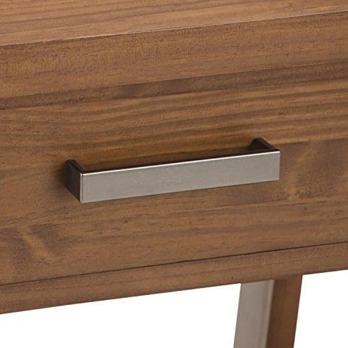 Simpli Home Sawhorse Solid Wood 24 Inch Wide Modern Industrial Bedside Nightstand Table In Medium Saddle Brown 0 2