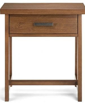 Simpli Home Sawhorse Solid Wood 24 Inch Wide Modern Industrial Bedside Nightstand Table In Medium Saddle Brown 0 5 300x360