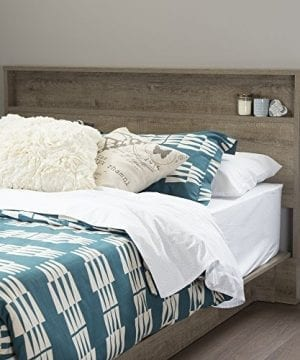 South Shore Holland Headboard With Shelf FullQueen 5460 Inch Weathered Oak 0 300x360