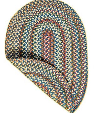 Super Area Rugs American Made Braided Rug For Indoor Outdoor Spaces BlueNatural Multi Colored 2 X 3 Oval 0 4 300x360