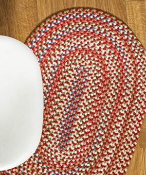 Super Area Rugs American Made Braided Rug For Indoor Outdoor Spaces RedNatural Multi Colored 2 X 3 Oval 0 0 300x360