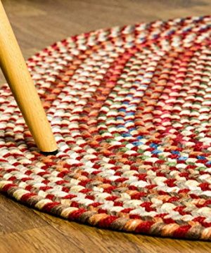 Super Area Rugs American Made Braided Rug For Indoor Outdoor Spaces RedNatural Multi Colored 2 X 3 Oval 0 1 300x360