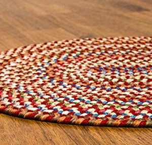 Super Area Rugs American Made Braided Rug For Indoor Outdoor Spaces RedNatural Multi Colored 2 X 3 Oval 0 2 300x286