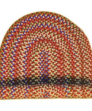 Super Area Rugs American Made Braided Rug For Indoor Outdoor Spaces RedNatural Multi Colored 2 X 3 Oval 0 5 300x360
