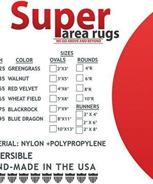Super Area Rugs Gemstone Textured Braided Rug IndoorOutdoor Rug Durable Blue Kitchen Carpet 2 X 3 Oval 0 2 300x360