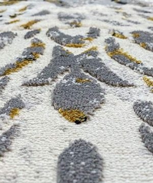 Tayse Kathryn Yellow 2x3 Scatter Mat Area Rug For Hallway Walkway Entryway Or Foyer Transitional Damask 0 4 300x360