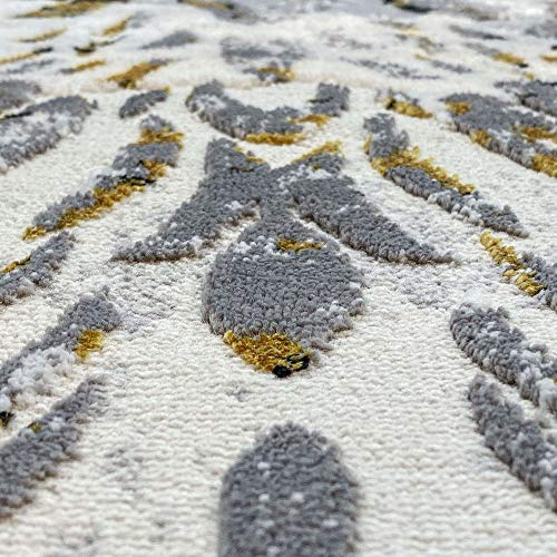 Tayse Kathryn Yellow 2x3 Scatter Mat Area Rug For Hallway Walkway Entryway Or Foyer Transitional Damask 0 4