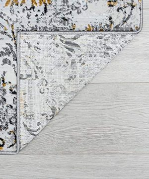 Tayse Kathryn Yellow 2x3 Scatter Mat Area Rug For Hallway Walkway Entryway Or Foyer Transitional Damask 0 5 300x360