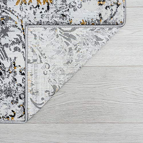 Tayse Kathryn Yellow 2x3 Scatter Mat Area Rug For Hallway Walkway Entryway Or Foyer Transitional Damask 0 5