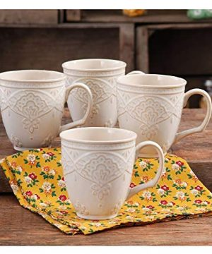 The Pioneer Woman Farmhouse Lace Mug Set 4 Pack Off White 0 0 300x360