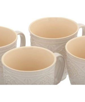 The Pioneer Woman Farmhouse Lace Mug Set 4 Pack Off White 0 1 300x360