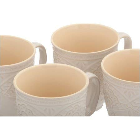The Pioneer Woman Farmhouse Lace Mug Set 4 Pack Off White 0 1