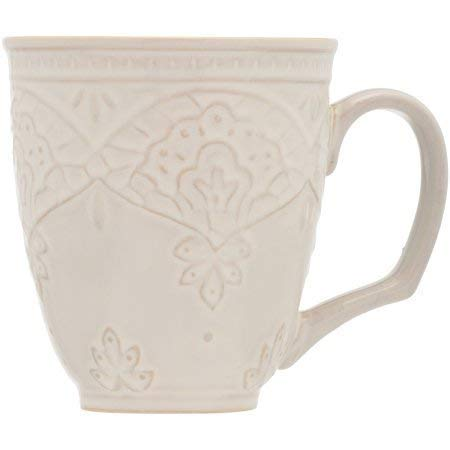 The Pioneer Woman Farmhouse Lace Mug Set 4 Pack Off White 0