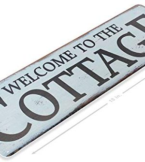 Tinworld TIN Sign A678 Welcome To The Cottage Rustic Kitchen Cottage Farm Metal Sign 6 X 18 0 300x335