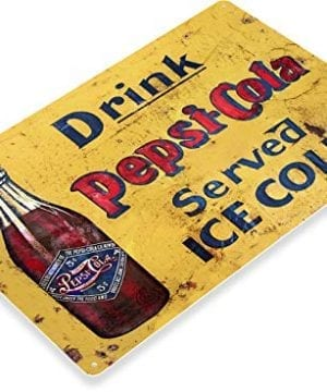 Tinworld Tin Sign Pepsi Cola Cold Rustic Retro Soda Metal Sign Decor Kitchen Cottage A141 0 300x360