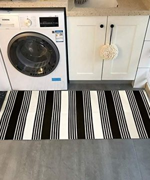 USTIDE 2x3 Cotton Printed Area Rug BlackWhite Striped Stripe Doormat Perfect For Front Door Porch Outdoor Rug 0 0 300x360