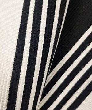 USTIDE 2x3 Cotton Printed Area Rug BlackWhite Striped Stripe Doormat Perfect For Front Door Porch Outdoor Rug 0 3 300x360