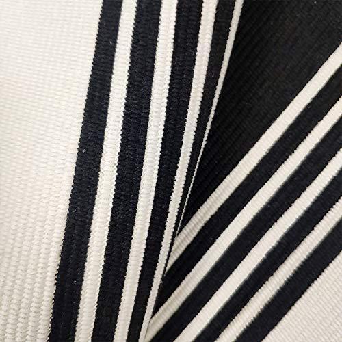 USTIDE 2x3 Cotton Printed Area Rug BlackWhite Striped Stripe Doormat Perfect For Front Door Porch Outdoor Rug 0 3