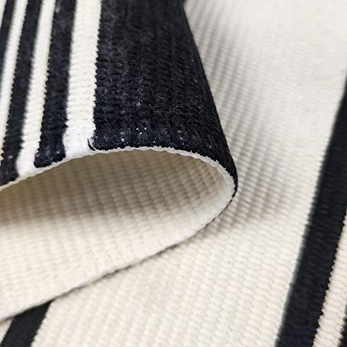 USTIDE 2x3 Cotton Printed Area Rug BlackWhite Striped Stripe Doormat Perfect For Front Door Porch Outdoor Rug 0 4