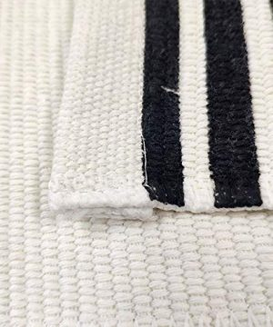 USTIDE 2x3 Cotton Printed Area Rug BlackWhite Striped Stripe Doormat Perfect For Front Door Porch Outdoor Rug 0 5 300x360
