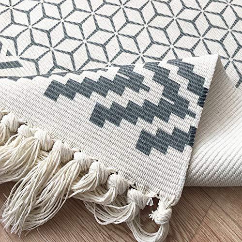 Hand Woven Cotton Printed Kilim Rug