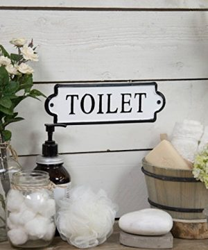 VIPSSCI Vintage Inspired Metal Toilet Wall Mounted Decorative Sign 0 0 300x360
