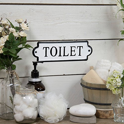 VIPSSCI Vintage Inspired Metal Toilet Wall Mounted Decorative Sign 0 0