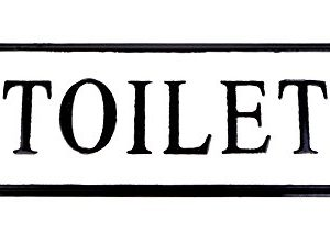 VIPSSCI Vintage Inspired Metal Toilet Wall Mounted Decorative Sign 0 300x221