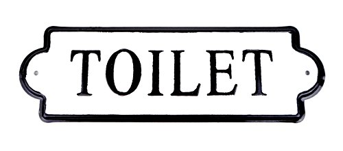 VIPSSCI Vintage Inspired Metal Toilet Wall Mounted Decorative Sign 0