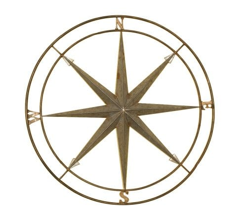 Welcome Home Accents Silver And Copper Compass Wall Dcor 0