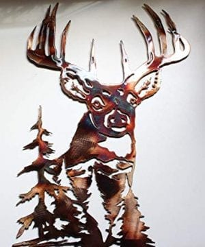 Whitetail Deer Metal Wall Art 19 X 15 0 300x360