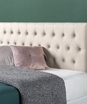 Zinus Trina Upholstered Modern Classic Tufted Headboard In Taupe Queen 0 300x360