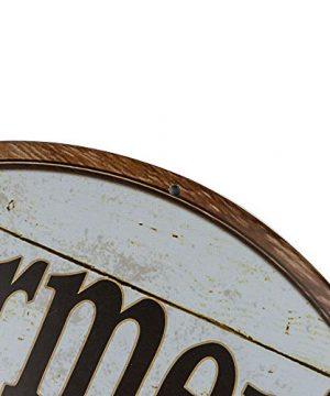 Dojune Decor Signs IndoorOutdoor Farmers Market Eggs Wholesale Novelty Metal Circular Sign 0 1 300x360