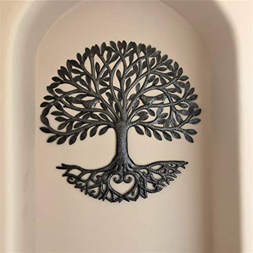 Its Cactus Metal Art Haiti Haitian Family Tree Of Life Decorative Wall Sculpture Home Decor Wall Hangings Family Tree Roots Flowers 24 In Round Love Tree 0 0