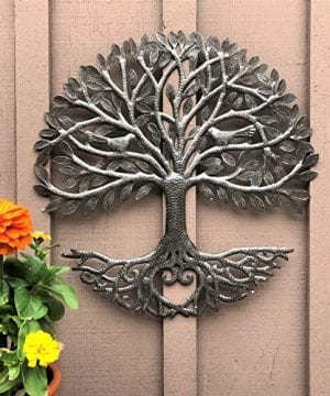 Its Cactus Metal Art Haiti Haitian Family Tree Of Life Decorative Wall Sculpture Home Decor Wall Hangings Family Tree Roots Flowers 24 In Round Love Tree 0 1 300x360
