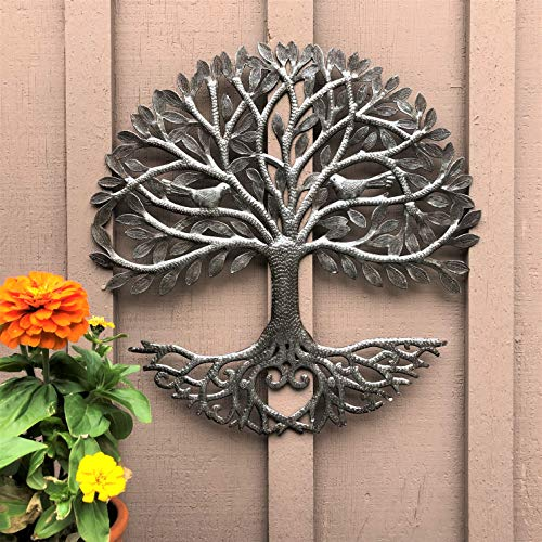 Its Cactus Metal Art Haiti Haitian Family Tree Of Life Decorative Wall Sculpture Home Decor Wall Hangings Family Tree Roots Flowers 24 In Round Love Tree 0 1