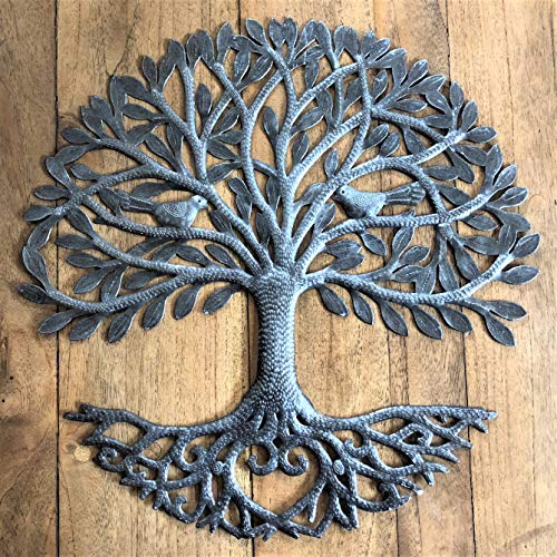 Its Cactus Metal Art Haiti Haitian Family Tree Of Life Decorative Wall Sculpture Home Decor Wall Hangings Family Tree Roots Flowers 24 In Round Love Tree 0 2