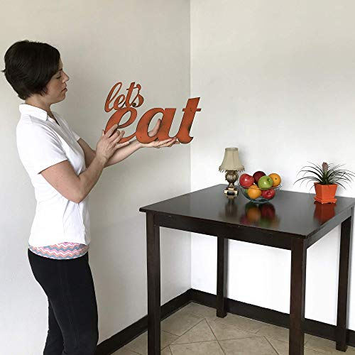 Lets Eat Metal Wall Art Home Decor Handmade Choose 11 17 Or 23 Long Choose Your Patina Color OR Chooseeat Orlets Eat Kitchen Decor 0 1