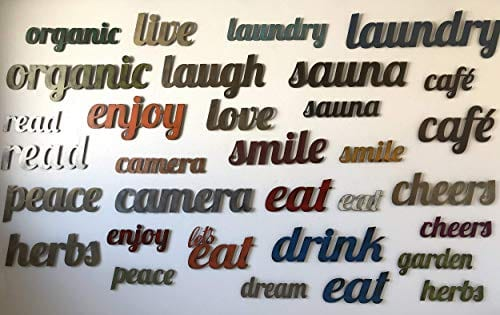 Lets Eat Metal Wall Art Home Decor Handmade Choose 11 17 Or 23 Long Choose Your Patina Color OR Chooseeat Orlets Eat Kitchen Decor 0 3