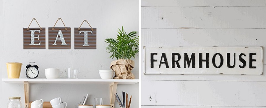 metal farmhouse signs