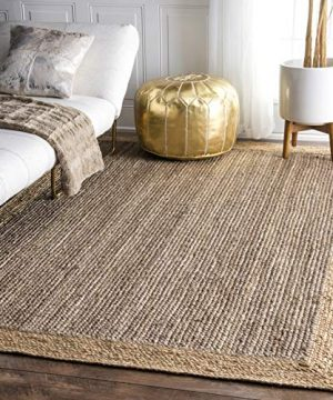 NuLOOM Eleonora Hand Woven Accent Jute Rug 2 X 3 Grey 0 300x360