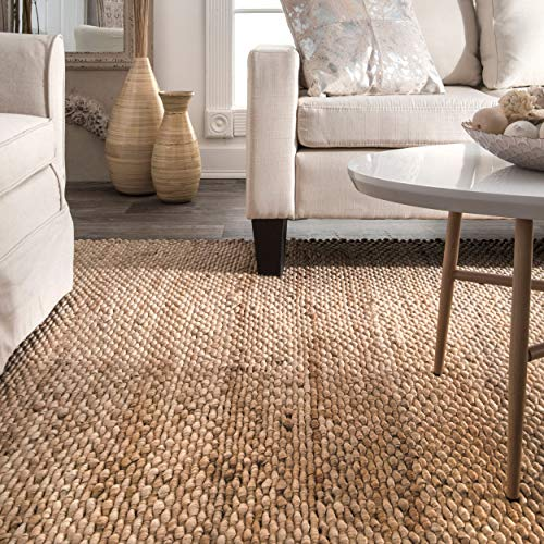 NuLOOM Hailey Handwoven Accent Jute Rug 2 X 3 Natural 0 1