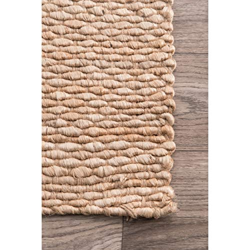 NuLOOM Hailey Handwoven Accent Jute Rug 2 X 3 Natural 0 2